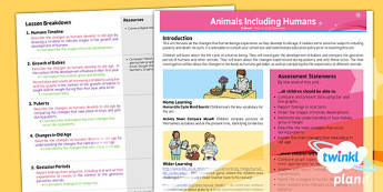 Science: Animals Including Humans Year 5 Planning Overview