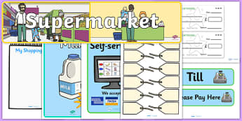 Supermarket Shopping Role Play Pack - ESL Role Play Resources
