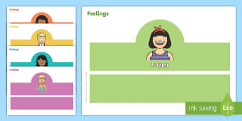 Feelings Role Play Headbands - Emotions, drama, Acting out feelings, Social skills, Mime