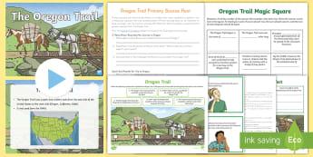 Oregon Trail Activity Pack - Oregon Trail, US History, grades 3-5 social studies, grade 4 oregon history, settlement of the ameri