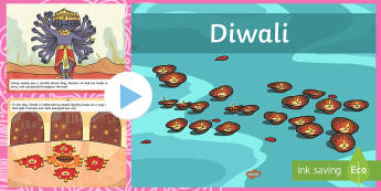 All About Diwali Video PowerPoint - diwali, information, powerpoint, religion