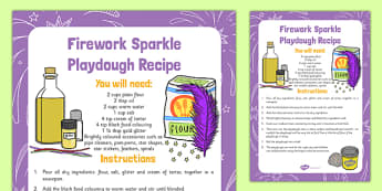 Firework Sparkle Playdough Recipe - firework, sparkle, playdough, recipe