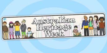 Australian Heritage Week Display Banner - australia, display