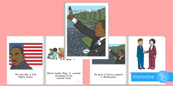 Martin Luther King, Jr. Emergent Reader eBook - Civil Rights, Black History Month, I have a dream, social studies, Early childhood history,