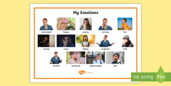 Emotions Word Mat - feelings, SEN, express myself, social skills, happy, sad