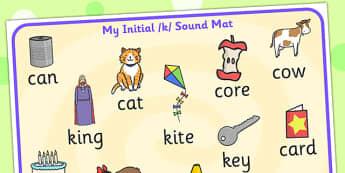 Initial k Sound Mat - initial k, sounds, k sounds, sound mat, mat