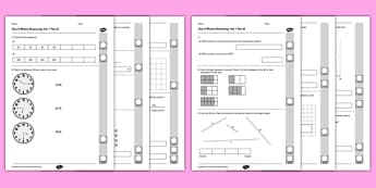 Year 3 Mathematics Reasoning Test Set 1 - Year 3, Reasoning, mathematics, maths