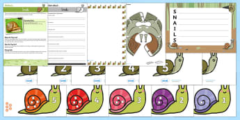 Snails Resource Pack - the snail and the whale, julia donaldson, EYFS, KS1, axel scheffler,