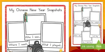 Chinese New Year Snapshot Writing Frame - australia, writing