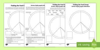 Finding the Food Group Activity Sheets English/Romanian - food, healthy living, food groups, activities, activity, EAL, worksheet