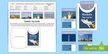 Rockets Top Card Game - top trumps, rockets, soyuz, saturn v, N1, Atlas, succesful launches, rocket science