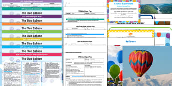 EYFS Lesson Plan Enhancement Ideas and Resources Pack to Support Teaching on the Blue Balloon - mick inkpen, kipper, colour, size, self register