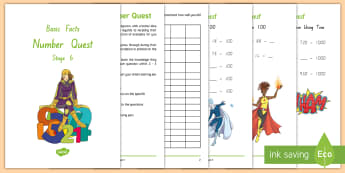 Stage 6 Number Knowledge Quest Maths Activity Booklet - Number Knowledge Quest Booklets, basic facts, numeracy project, stage 6, year 6 maths, number knowle