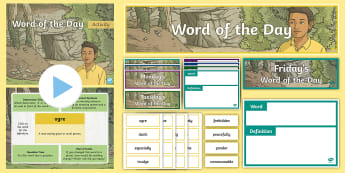 Year 3 Autumn 2 Word of the Day Display Pack - vocabulary, sentence, grammar, punctuation, spelling.