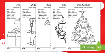 Merry Christmas Colour By Number Activity Sheet