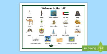Welcome to the UAE Word Mat - UAE, Culture, Heritage, word mat, Emirati, Emirates.