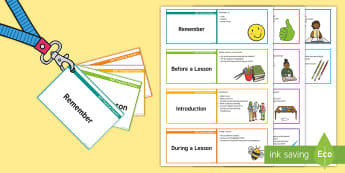 NQT Practical Pointers Cards - newly qualified teachers, reminders, lesson monitoring, staff well being, NQT