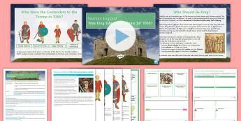 Medieval England: Was Edward the Confessor to Blame for 1066? Lesson Pack - KS4, GCSE, History, Medieval, Anglo Saxon, Claimants to throne, harald hardrada, william of normandy