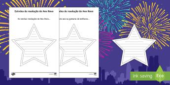 Estrelas de resolução de ano novo  - natal, natais, celebraçao, festa, natividade, solsticio de inverno, inverno, pai natal, papai noel,