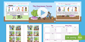 The Enormous Turnip Story Map Activity Pack - Talk 4 Writing, Talk for writing, Pie Corbett, Talk4writing, actions, storymap, recall, retelling, s