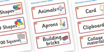 Spain Themed Editable Classroom Resource Labels - Themed Label template, Resource Label, Name Labels, Editable Labels, Drawer Labels, KS1 Labels, Foundation Labels, Foundation Stage Labels, Teaching Labels, Resource Labels, Tray Labels, Printable lab