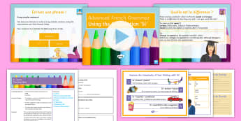 Advanced French Grammar: 'Si' Clauses Lesson Pack French - grammar, conjunctions, longer sentences, complex sentences, advanced, conditional sentences,French