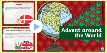 Advent Around The World PowerPoint - advent, christmas, religion, rme, traditions