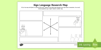 Sign Language Research Map - deaf awareness week, deaf awareness, deaf culture, deaf identity, deaf community, auslan, nzsl, asl,