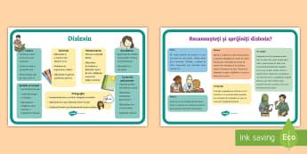 Știi cum să recunoști dislexia? Planșe informative - dislexia, dislexie, sala profesorală, scriere, dezvoltare personală, Romanian