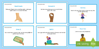 Sensory Brain Break Activity Cards - Sensory processing, ASD, sensory brain breaks, brain breaks, independent working, sensory needs, spe