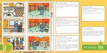 La castañera: ordenar el cuento Ficha de actividad - otoño, fiestas, tradiciones, castañas, castañera,