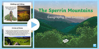 The Sperrins Geography and Geology PowerPoint - Mountains, Northern Ireland, Tyrone, Derry, range