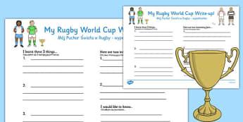 Rugby World Cup Write Up Worksheets Polish Translation - polish
