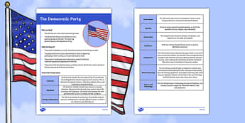 Democratic Party Values Fact File
