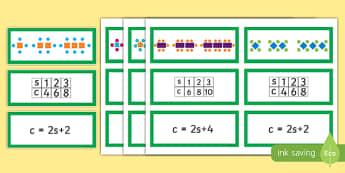 Expressing Patterns Algebraically Matching Cards - express, patterns, algebra, matching, match