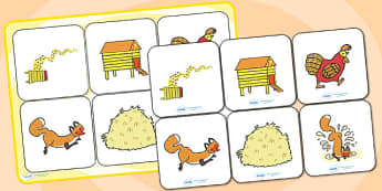 Matching Cards and Board to Support Teaching on Rosie's Walk - rosies walk, rosie's walk, rosies walk picture matching, rosies walk matching activity, rosies walk sen game, sen