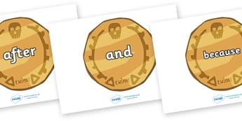 Connectives on Pirate Coins - Connectives, VCOP, connective resources, connectives display words, connective displays