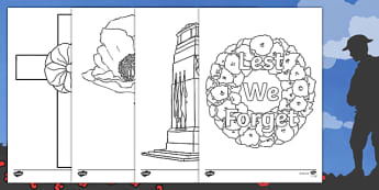 Remembrance Day Colouring Pages