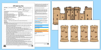 EYFS Building a Turret Counting Activity Adult Input Plan and Resource Pack - Castles, Numbers, Amount, Objects, Set, Total, Altogether, Mathematics, Early Years Planning, Founda