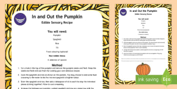 In and Out the Pumpkin Edible Sensory Recipe - early concepts, in and out, halloween, watermelon,