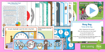 Childminder Maths: Time EYFS Resource Pack - child minder, childminding, o'clock, minutes, second, hour, time,