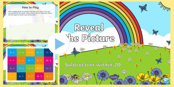 Subtraction within 20 Reveal the Picture  PowerPoint - Subtraction within 20 Reveal the Picture  PowerPoint - number, number processes, revision, recap, ta