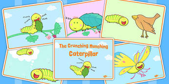 Story Sequencing to Support Teaching on The Crunching Munching Caterpillar - stories