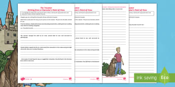 The Dual World of Anders Arnfield Point of View Differentiated Worksheet / Activity Sheet - tracator, perspective, first person, point of view, originals, creature, worksheet