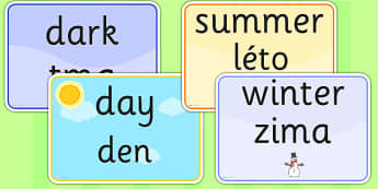 Seasons and Weather EAL Czech Version - season, weather, EAL