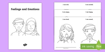 Emotions and Feelings Emergent Reader Booklet - all about me, my feelings, my emotions, uAE all about Me, Emirati Resources