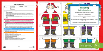 EYFS Build a Santa Numeral Version Busy Bag Plan and Resource Pack - EYFS plan, planning christmas, xmas, santa, father christmas, maths, number recognition, numbers, di
