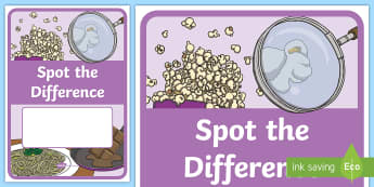 Science Spot The Difference Editable Book Cover - Science, primary connections, chemical science, grade 1, year 1, science journal, cover page, front
