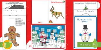 * NEW * Pack de recursos: Manualidades navideñas - Navidad, natividad, santa Claus, papá Noel, navideño, navideños, festividad, fiesta, ideas, manua