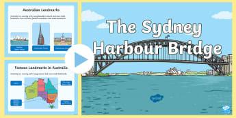 Sydney Harbour Bridge PowerPoint - Australian History, australian landmark, australian geography, new south wales, famous bridges,Austr